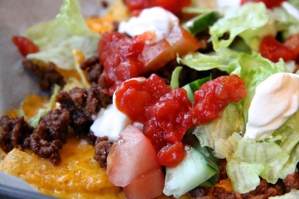 Ofnbakað nachos